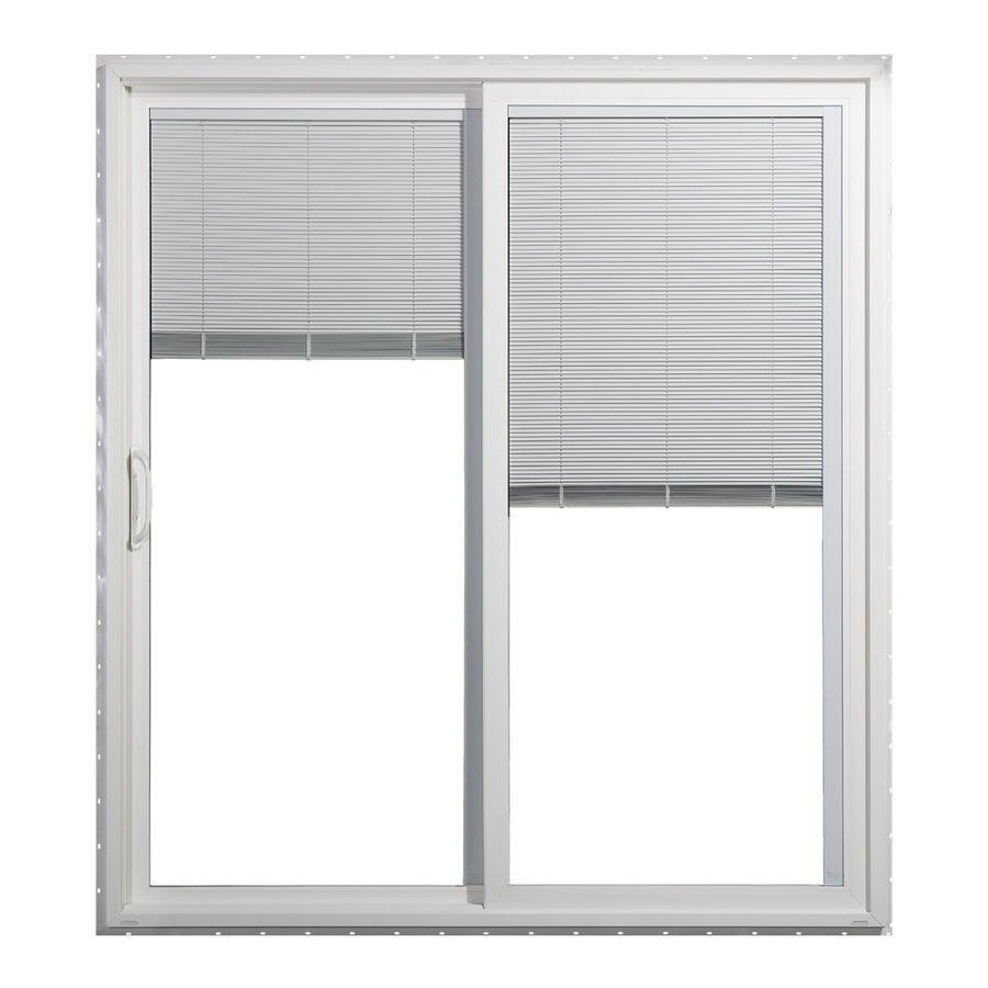 Jeld Wen 71 5 In Blinds Between The Gl White Vinyl Sliding Patio Door With Screen