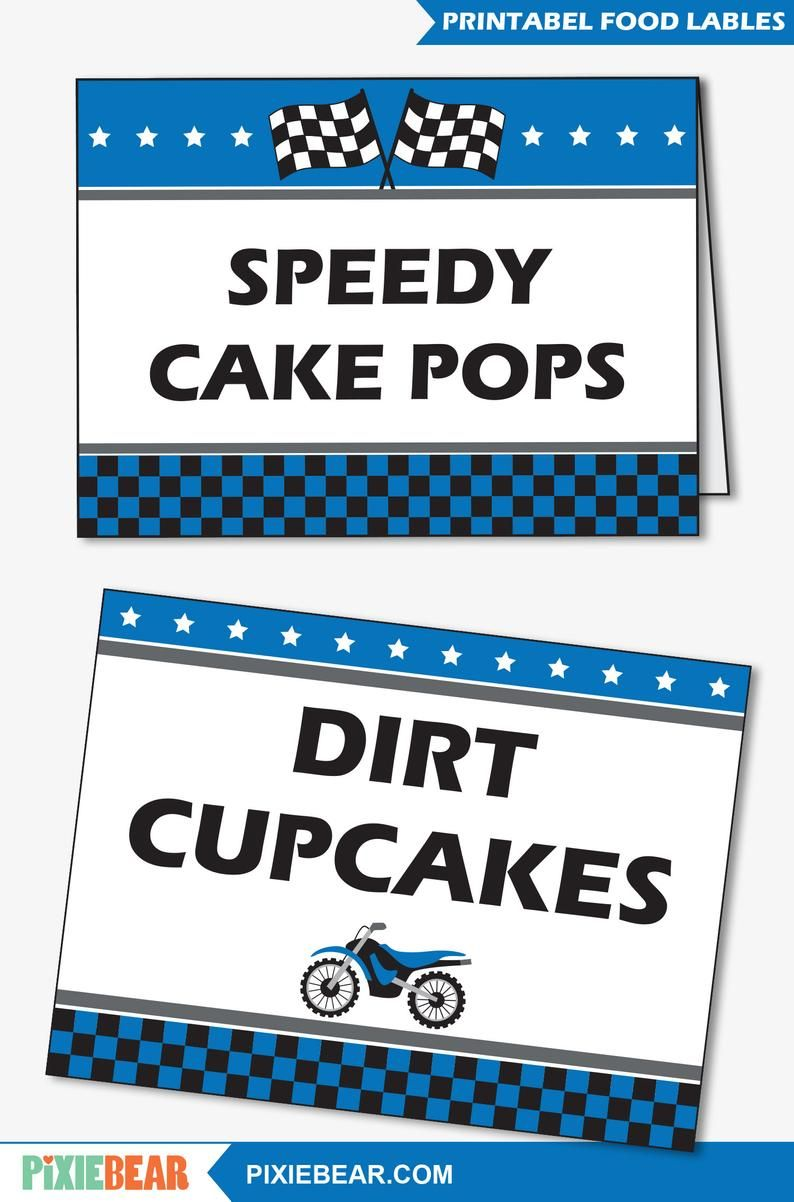 Motocross Birthday Food Labels Printable Decorations For A Etsy Dirt Bike Birthday Party Printables Baby Shower Motorcycle