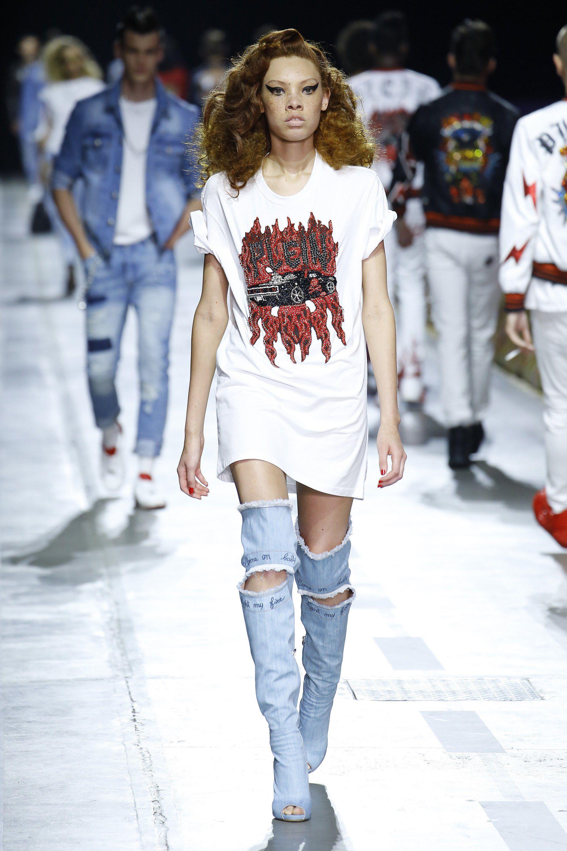 Designers Philipp Plein Multicolor Fantasia Ghetto Dress For Women Online