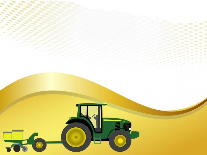 This Free Farm Tractor With Planter Powerpoint Template Is A Light