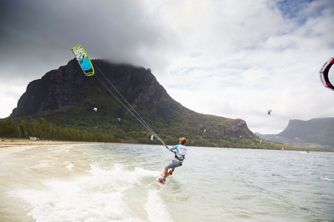 As the top rated spot for kite surfing in Mauritius and