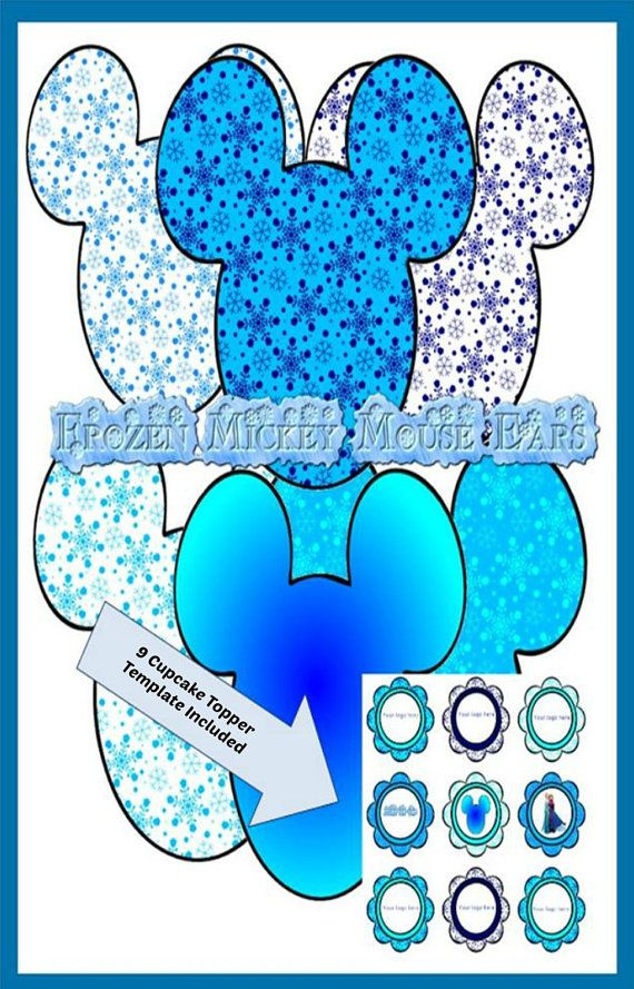 frozen mickey mouse ears clip art and