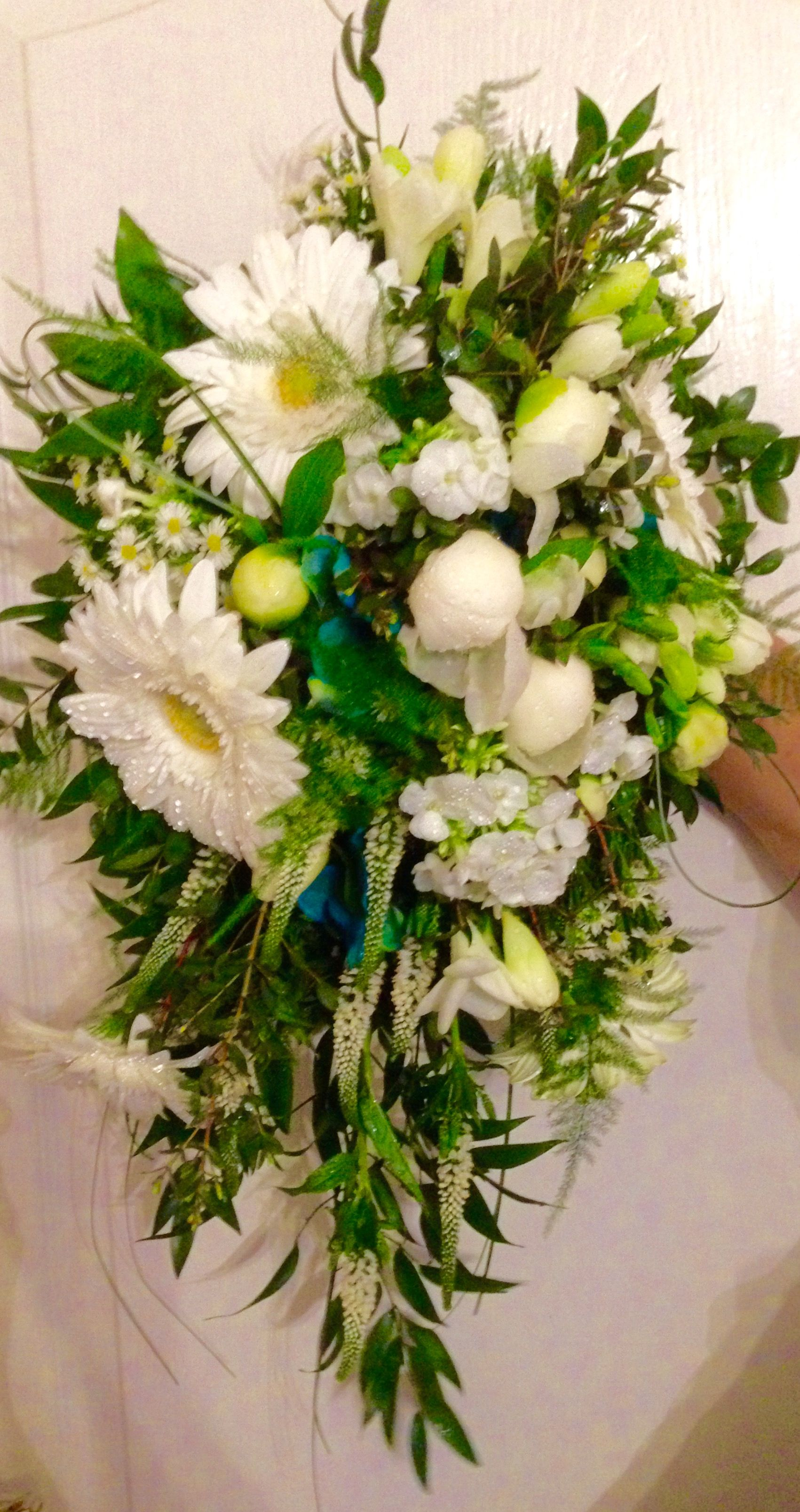 Fresh flower bridal bouquet gerberas peonies veronica freesia fresh flower bridal bouquet gerberas peonies veronica freesia and michaelmas daisies izmirmasajfo