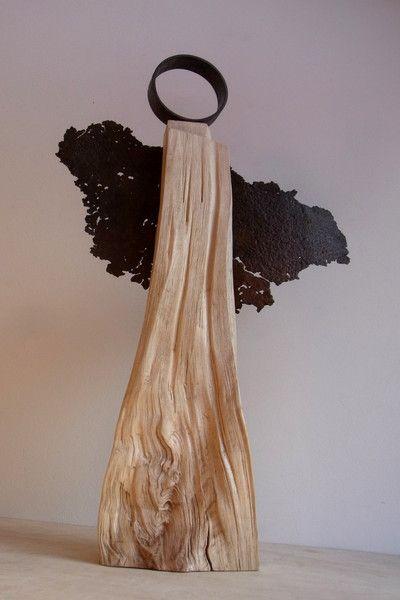 handgefertigter engel aus holz stahl von bk s kleine. Black Bedroom Furniture Sets. Home Design Ideas