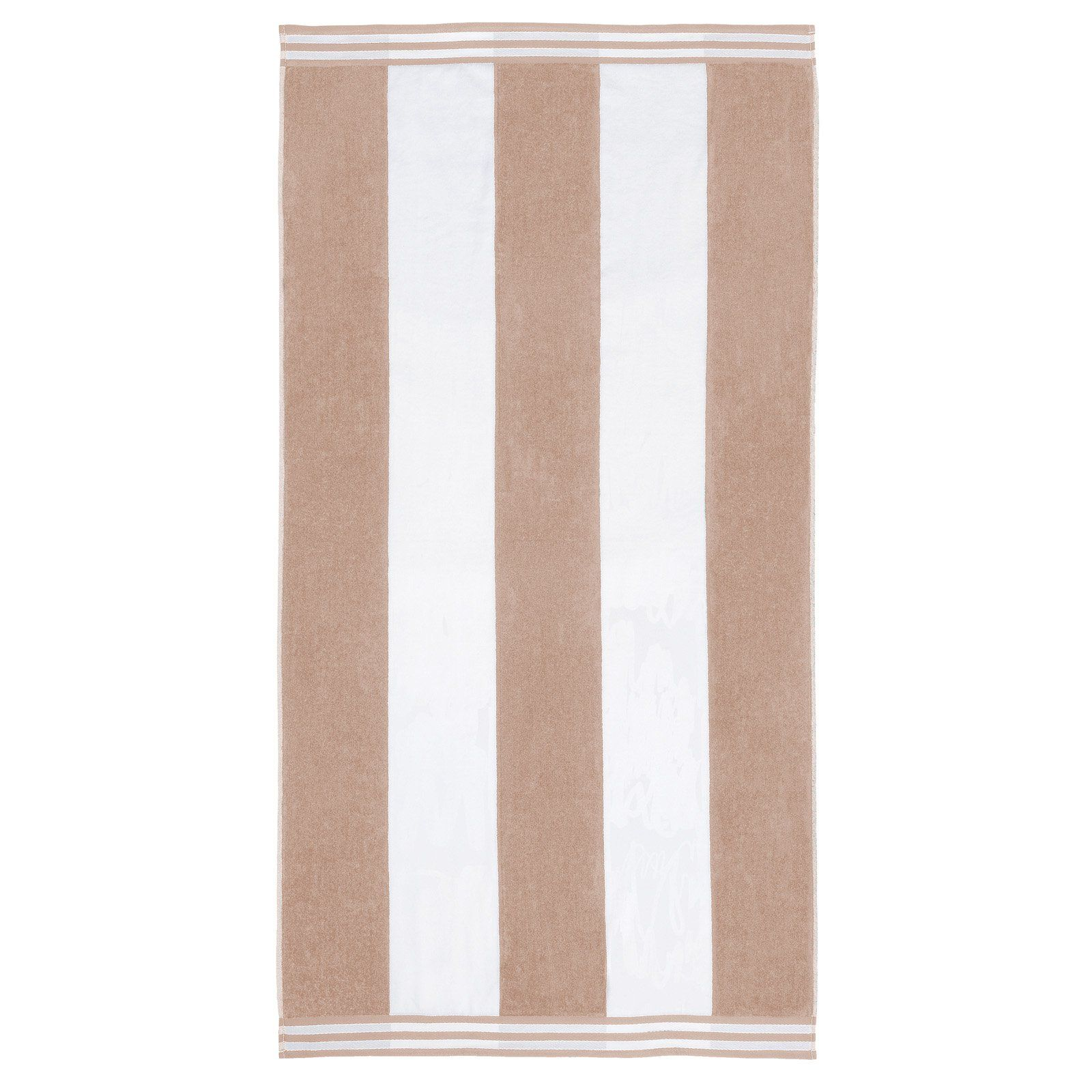 Superior Thick And Plush Cabana Stripe Beach Towel Taupe