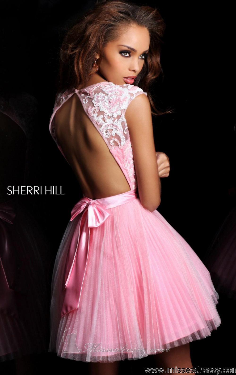 Lace & open back dress. Sherri Hill | Dresses | Pinterest | Rosas y ...