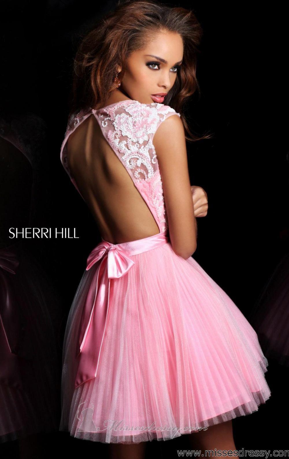 Lace & open back dress. Sherri Hill 21167 Dress - MissesDressy.com ...