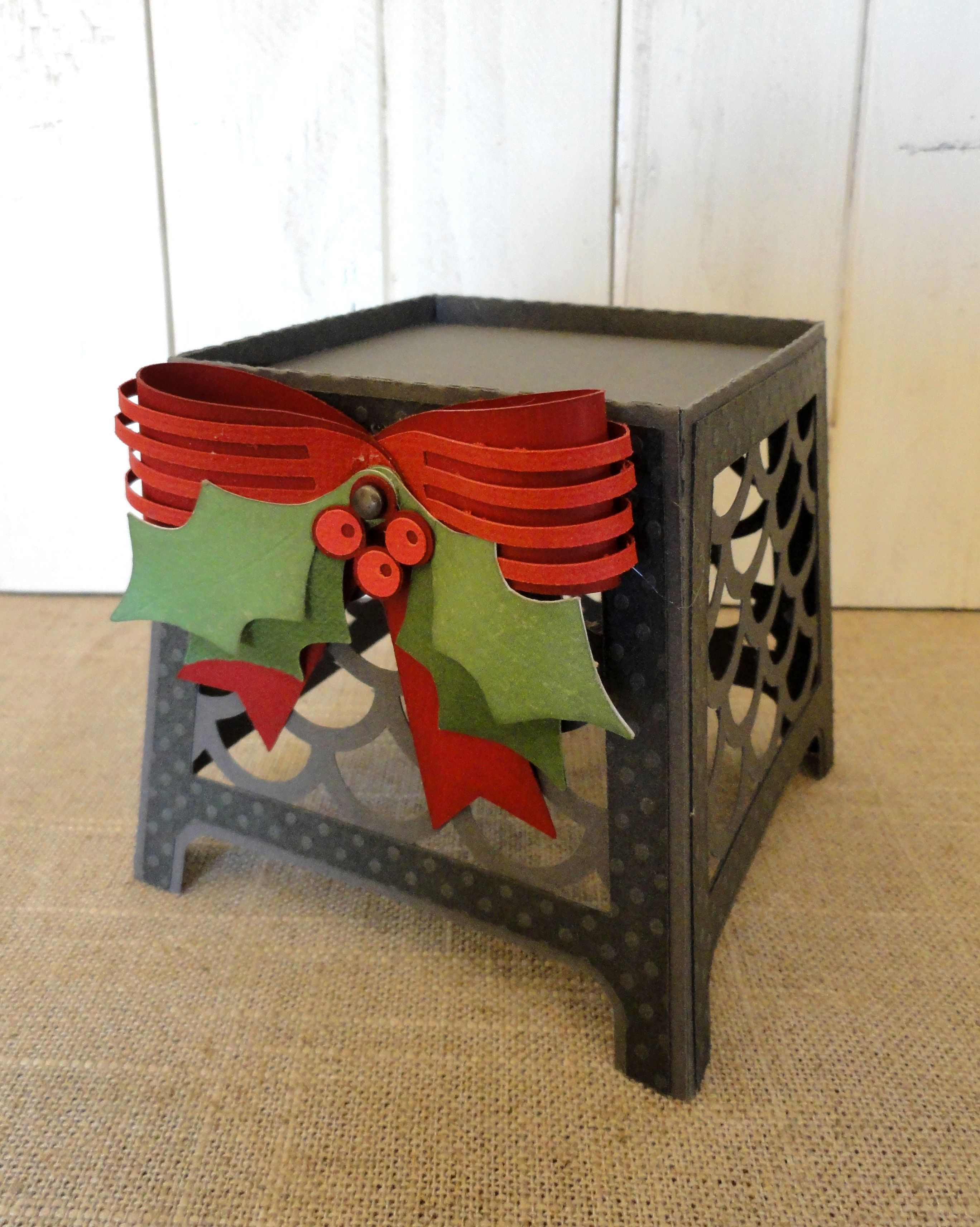 3D paper Christmas candle holder from JGW Colonial