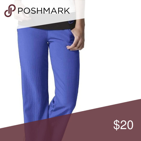 6f03aa6ec0b Wonder Wink Medical Scrub Pants Color: Fiji Blue Four Stretch by WonderWink  Women's Fold Over