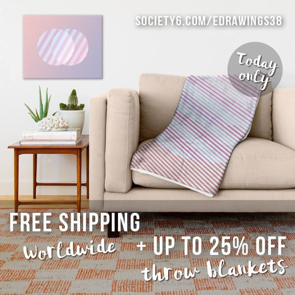 ★ FREE Shipping + Up To 25% OFF Blankets on Society6! Today only! ➤ bit.ly/edrawings38 ★ #freeshipping #blanket #home #promotion #offer #discount #sale #abstract #design #colors2016 #homedecor #society6
