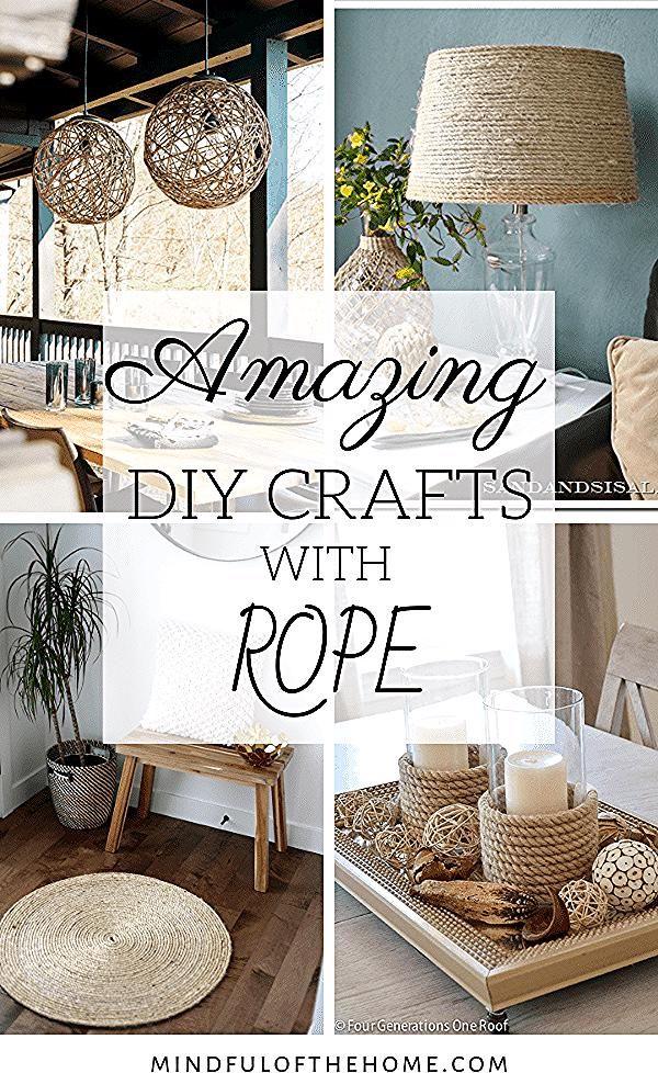 14 erstaunliche DIY Seil Handwerk für Ihr Zuhause - auf der Suche nach Inspira ... #auf #Der #DIY #Erstaunliche #für #Handwerk #Ihr