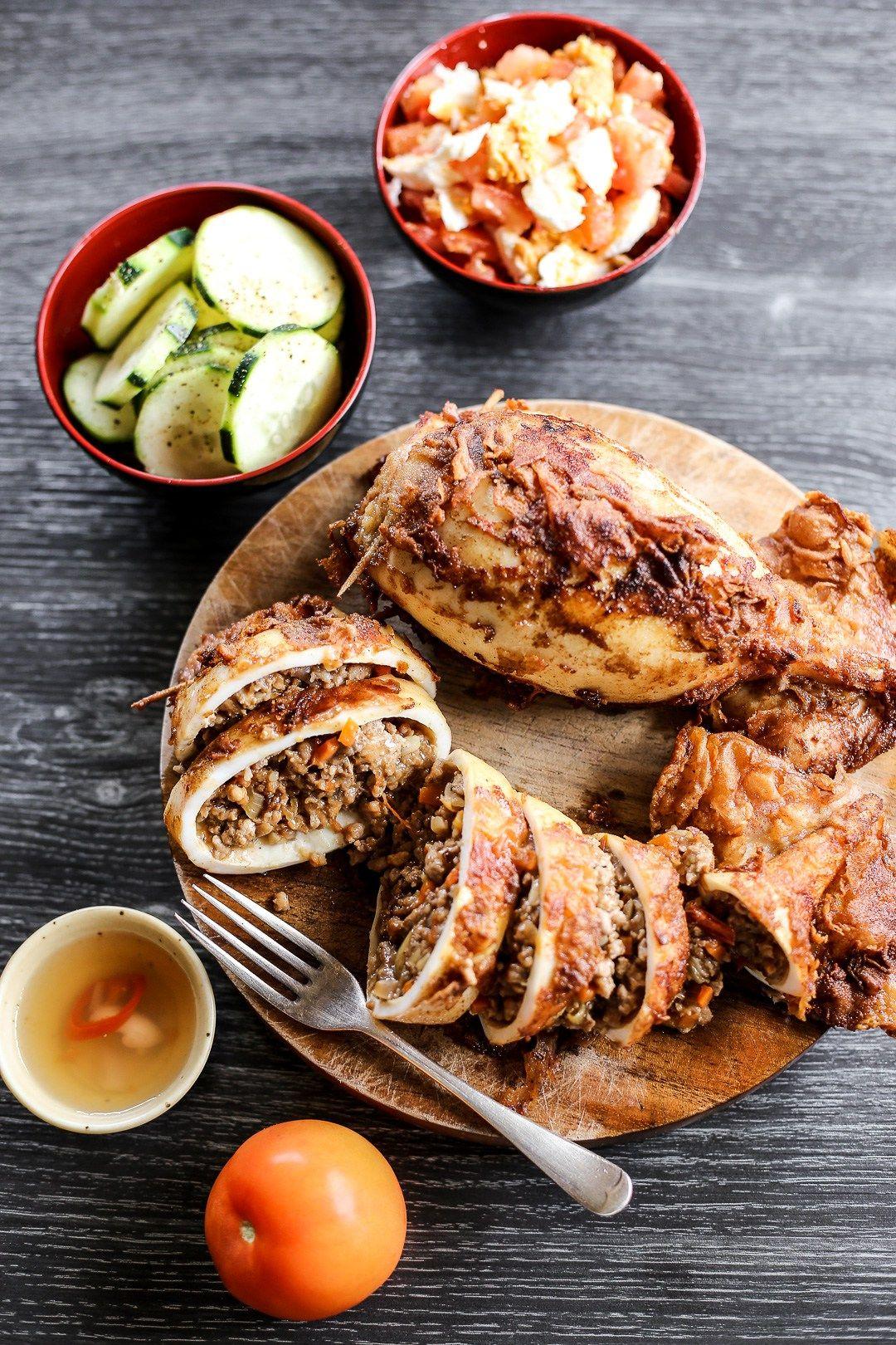 Rellenong Pusit (Stuffed Squid) Recipe Squid recipes