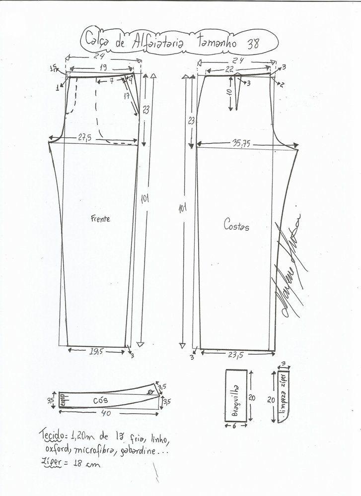 Patrón Pantalón de sastre de mujer | Condismod Sastrería | Pinterest ...