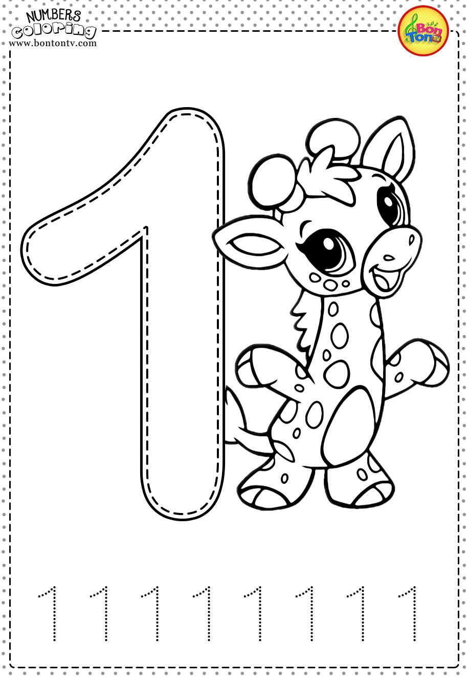 Printable 2 Year Old Worksheets Coloring Numbers Number 1 ...