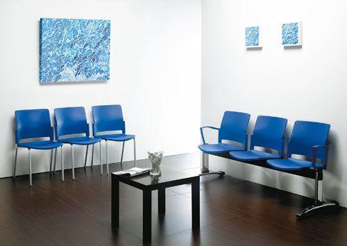 Sala espera azul conchi pinterest azul salas de espera y clinica dental - Muebles para sala de espera ...