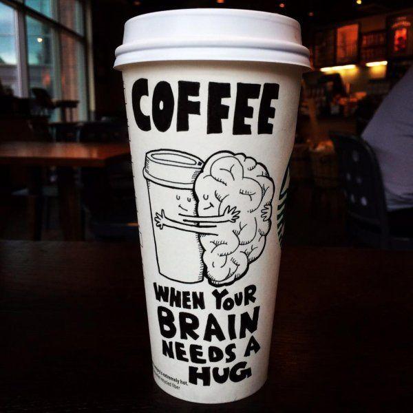 Kaffee. Wenn dein Gehirn eine Umarmung braucht. #coffeehumor