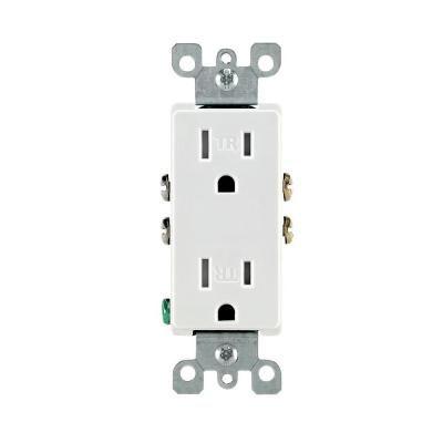 Leviton Decora 15 Amp Tamper-Resistant Duplex Outlet, White (10-Pack ...
