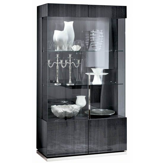 Montecarlo Two Door Curio Cabinet With Led Light In High