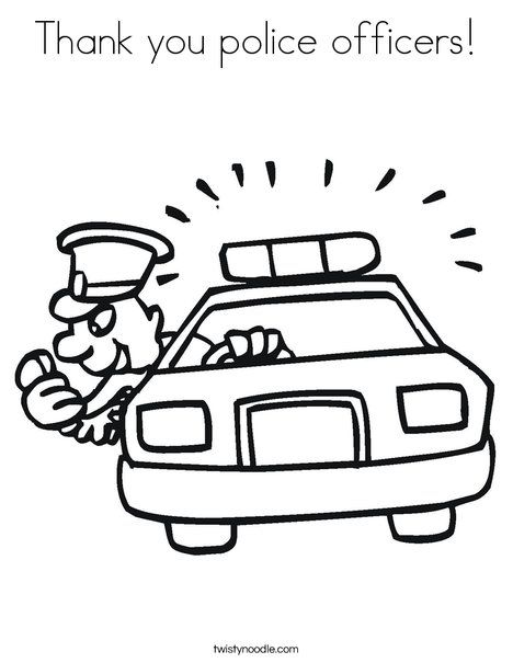 Thank You Police Officers Coloring Page Police Appreciation Cars Coloring Pages Police