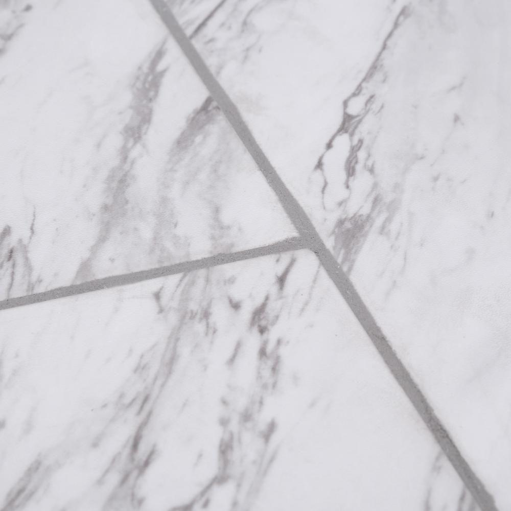 TrafficMASTER Carrara Marble 12 in. x 24 in. Peel and Stick Vinyl ...