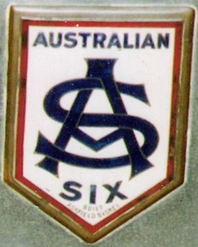 Australian Six radiator badge