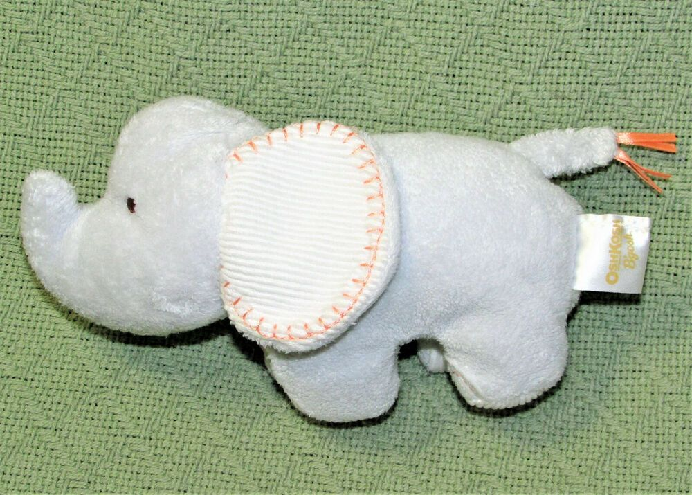 Oshkosh Baby Blue Elephant Rattle Stuffed Animal 7 Htf Plush Osh Kosh B Gosh Oshkoshbgosh Oshkosh Baby Blue Elephants Oshkosh