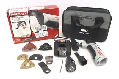 Craftsman 12 Volt Nextec Compact Multi Tool Set With Battery Extras 17438 Multitool Tools For Sale Craftsman