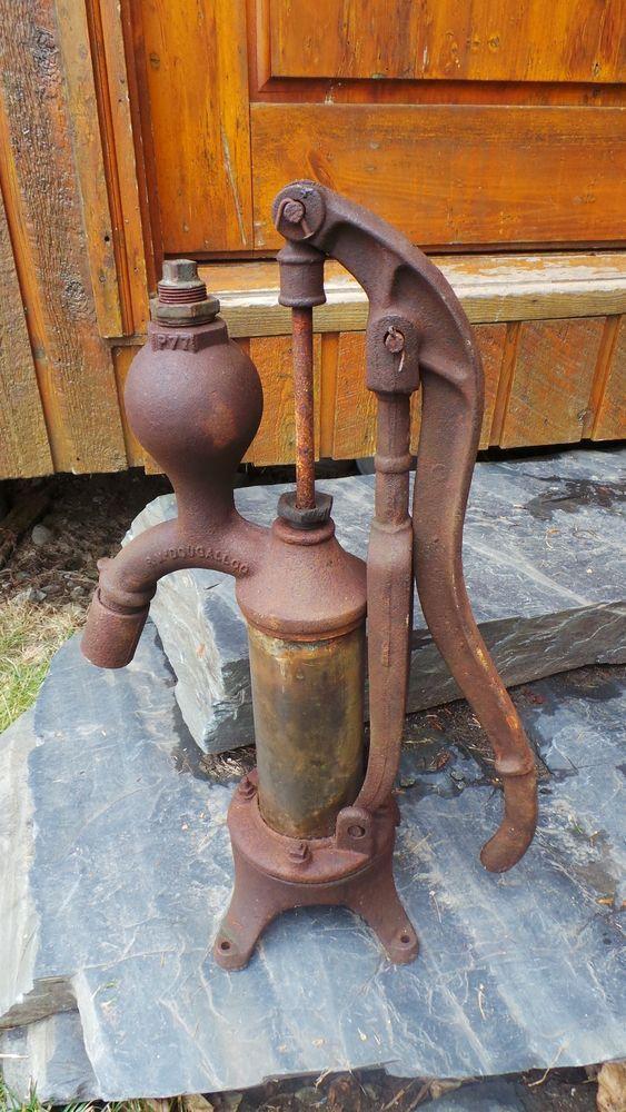 Vintage Cast Iron Hand Water Pump In
