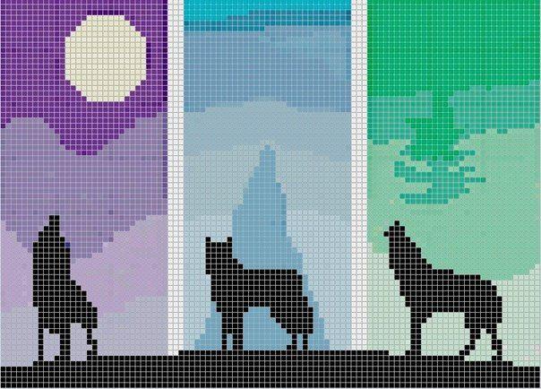 схемы аниме фенечек прямым плетением