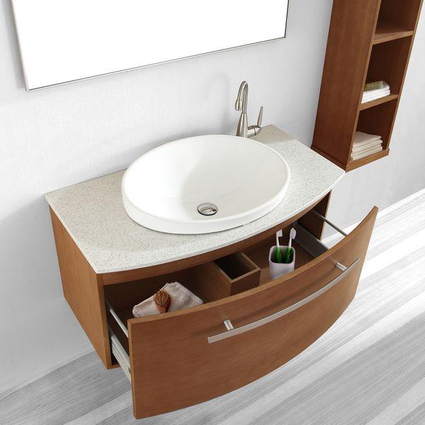 Annabelle 40 Inch Modern Bathroom Vanity Espresso Finish virtu usa anabelle 40-inch single sink bathroom vanity set