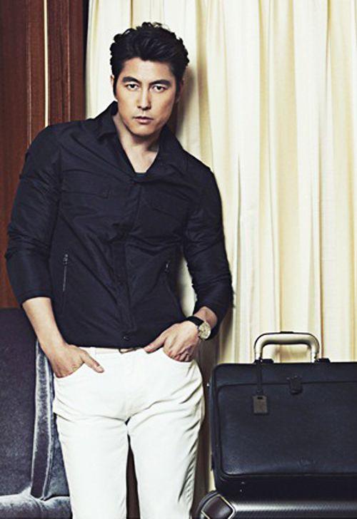 Vogue Korea August 2014: Jung Woo Sung & Kim Hye Soo For Hartmann +