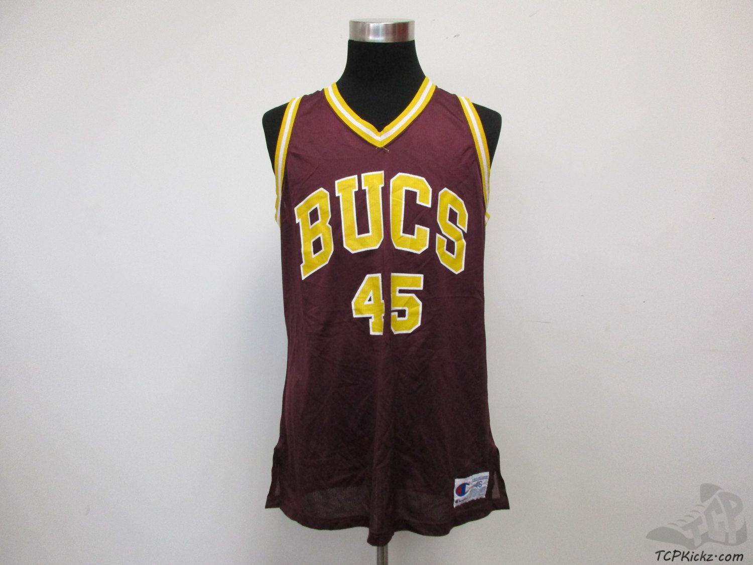 Vtg 90s Champion Bucs Buccaneers Basketball Jersey 45 Sz 46 Yellow Maroon Vintage By Tcpkickz On Etsy Basketball Jersey Champion Jersey