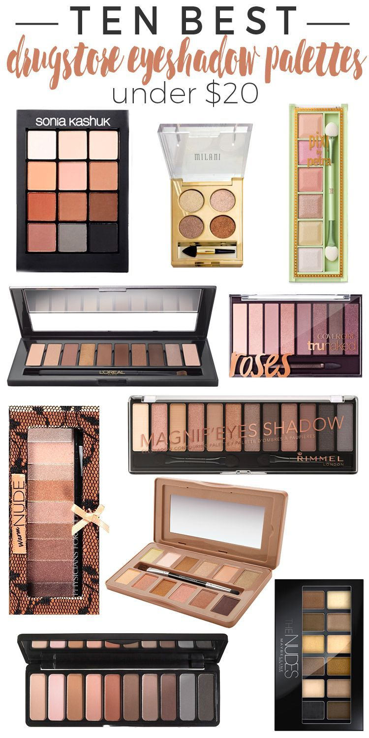 20 Best Drugstore Eyeshadow Palettes Under20