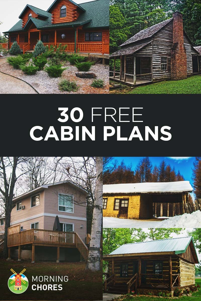 30 Free Diy Cabin Plans Ideas That You Can Actually Build Diy Cabin Cabin Plans Diy Tiny House Plans