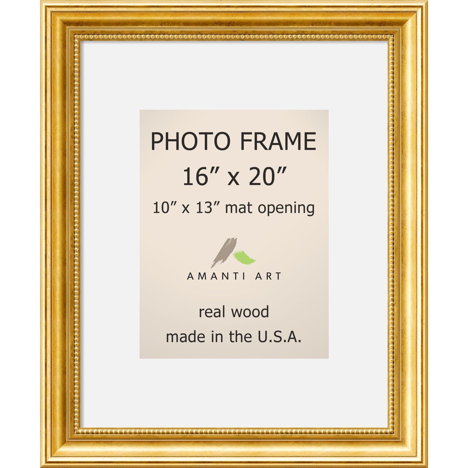 Townhouse Gold Photo Frame\' 19 x 23-inch (Gold Photo Frame Matted ...
