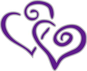 new purple and silver hearts beauty in purple pinterest rh pinterest com purple heart clip art images purple heart clipart png