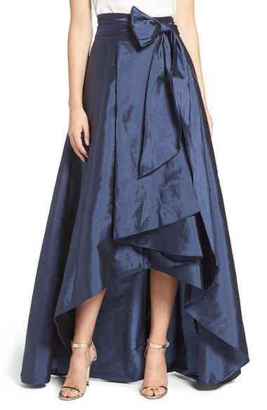 0082ef2c2743e Free shipping and returns on Adrianna Papell High Low Taffeta Ball Skirt at…