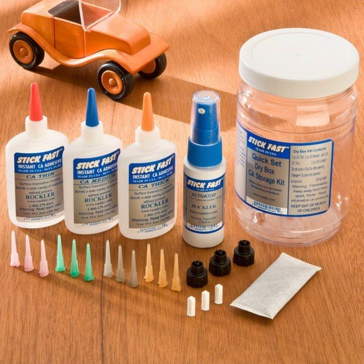 Stick Fast Ca Glue Dry Box Kit Wood Adhesive Glue Storage Kits
