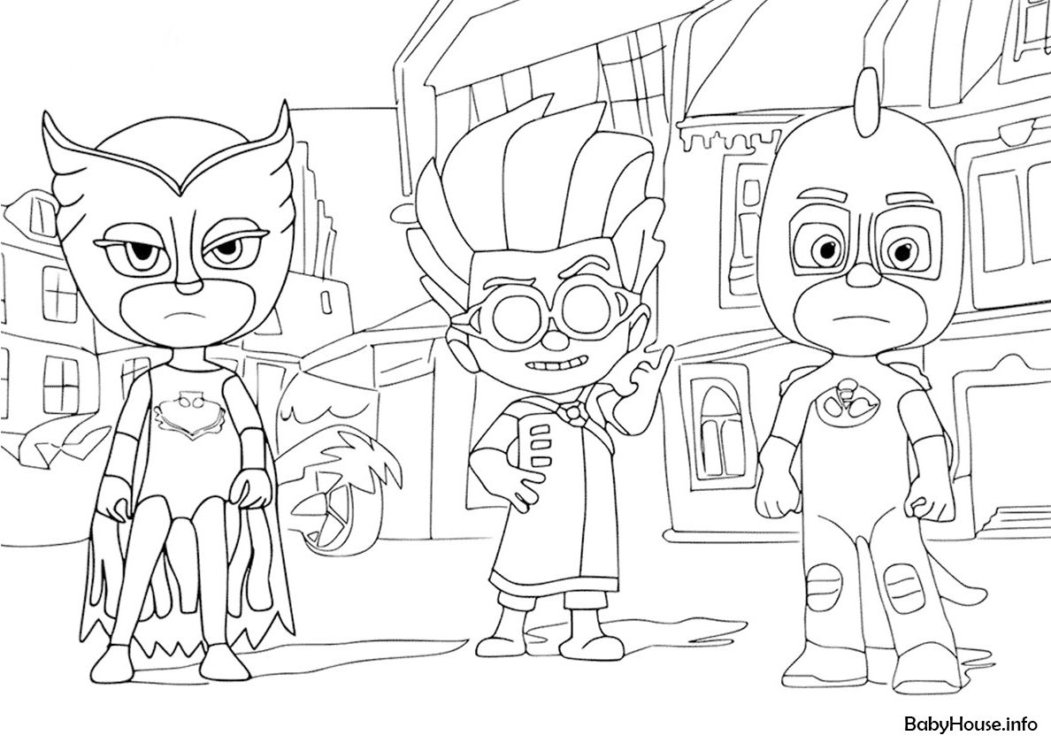 Owlette Romeo And Gekko Cartoon Coloring Pages Free Coloring