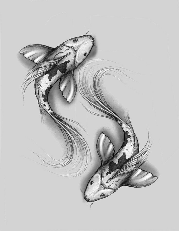 Pisces represented by Koi. | new concepts | Pisces tattoos ...