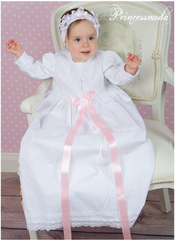 nr.pm4 langes traditionelles taufkleid! rosane schleife