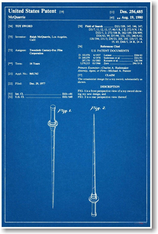 Amazon star wars jedi light saber patent new famous invention amazon star wars jedi light saber patent new famous invention blueprint poster malvernweather Gallery