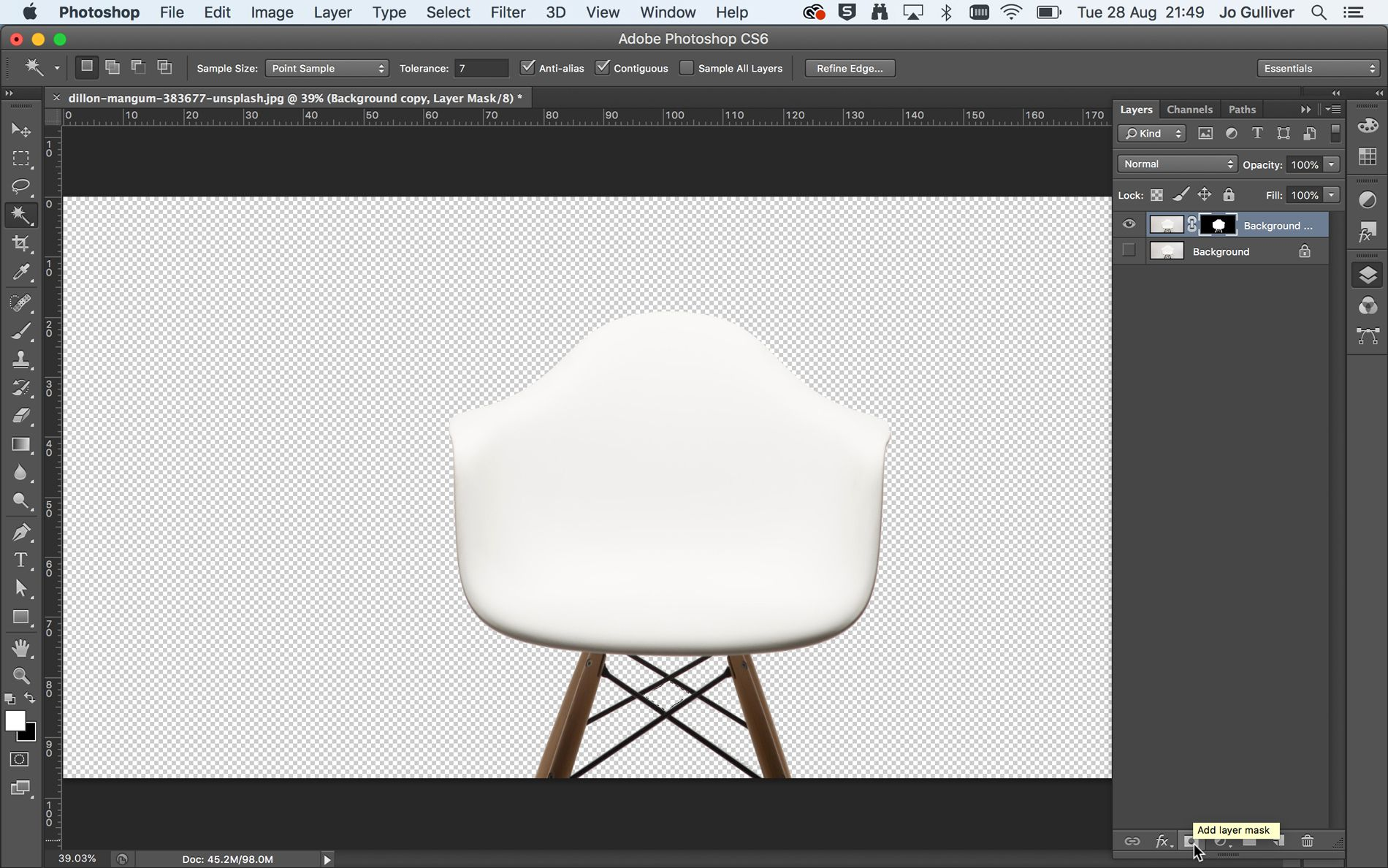 How to remove a background in