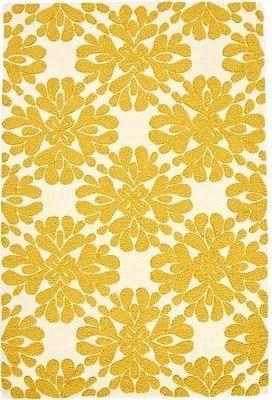 Yellow Floral Geometric Designyourrevolution Via