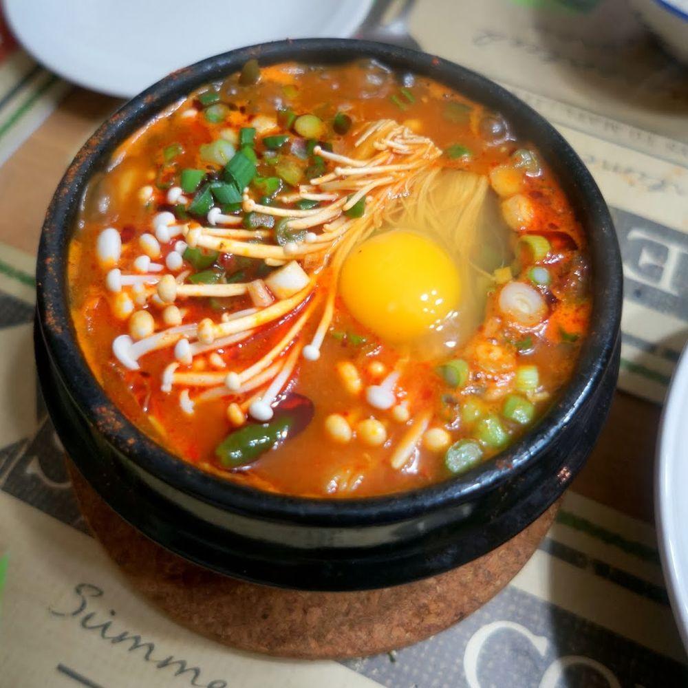 Vegetarian Soon Tofu Jjigae Korean Silken Tofu Stew Recipe On Food52 Recipe Soon Tofu Recipe Recipes Sundubu Jjigae Recipe