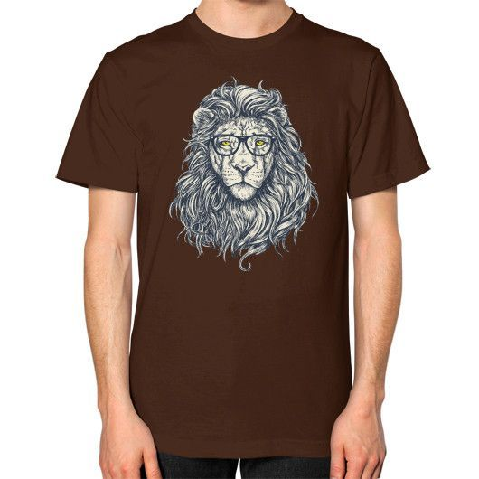 Lion learned Unisex T-Shirt (on man)