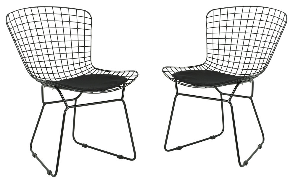 Gdf Studio Fonda Outdoor Iron Chairs Set Of 2 Contemporary