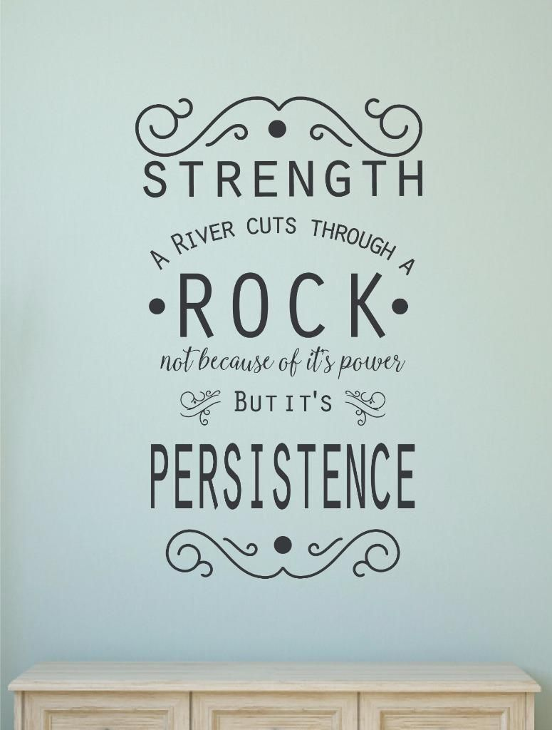 Strength vinyl decal wall sticker words letters inspirational home decor quote also rh za pinterest