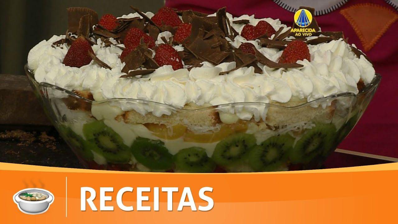 Santa Receita Bolo Tropical Na Taca Por Tatiane Batista 28 De