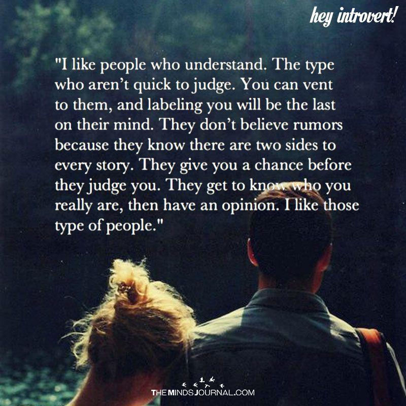 I Like People Who Understand